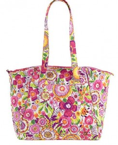 travel tote in clementine