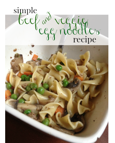 This recipe for beef and veggie egg noodles was super simple and my family loved it!