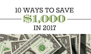 ways to save $1,000