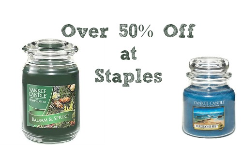 yankee candles staples