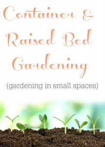 Gardening in small spaces... Container & raised bed gardening.