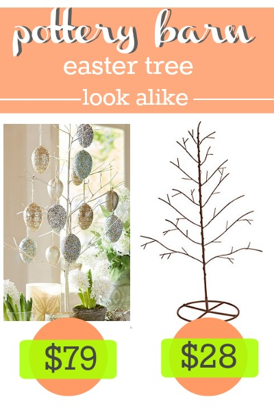 Pottery Barn Easter Tree Look Alike