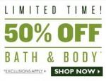 The Body Shop: 50% Off Bath & Body Products