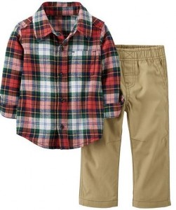 carters plaid set