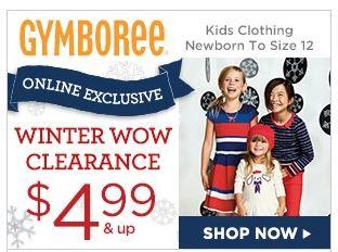 clearance sale gymboree
