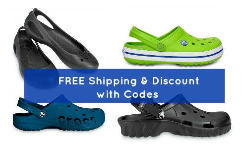 crocs discount and free shipping