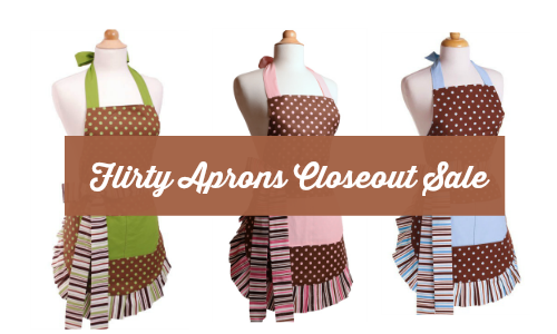 flirty aprons closeout sale