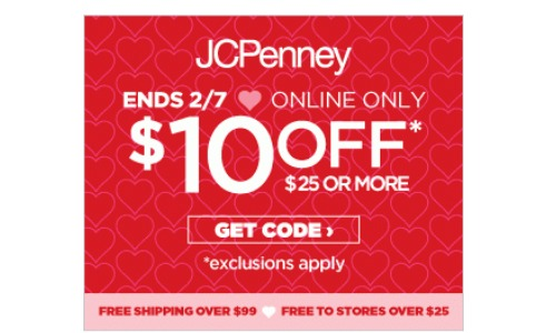 jcpenney coupon code 10 off
