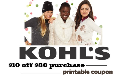 kohls coupon 10 off 30
