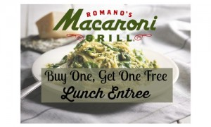 macaroni grill bogo lunch