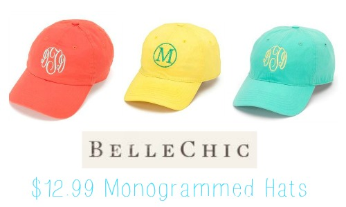 41e5034af BelleChic Deal: $12.99 Monogrammed Spring Hats :: Southern Savers