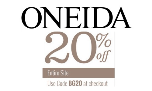 Find Oneida handpicked coupon codes updated on a daily basis plus other great deals like free shipping, discount prices, free gifts and more. We update this page often and encourage you to come here for the latest Oneida coupons.
