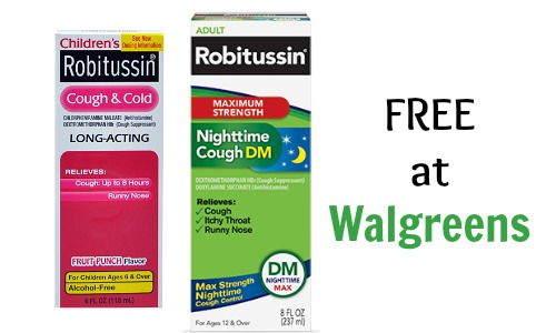 robitussin coupon walgreens