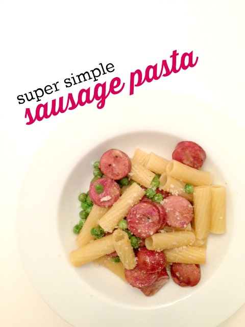 This super simple sausage pasta is flavorful and filling. The best part is that it only takes 15 minutes to make!