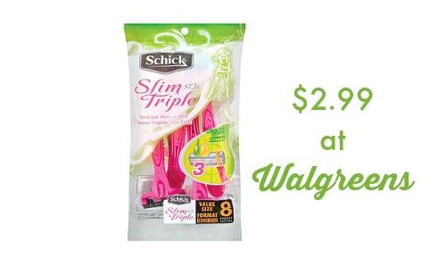 schick razor deal walgreens