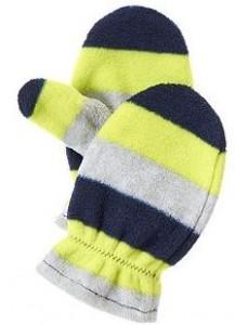 stripe mittens