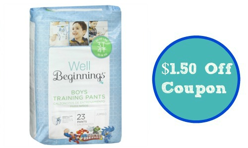well beginnings coupon training pants