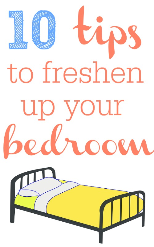 10 easy and frugal ways to freshen up your bedroom.