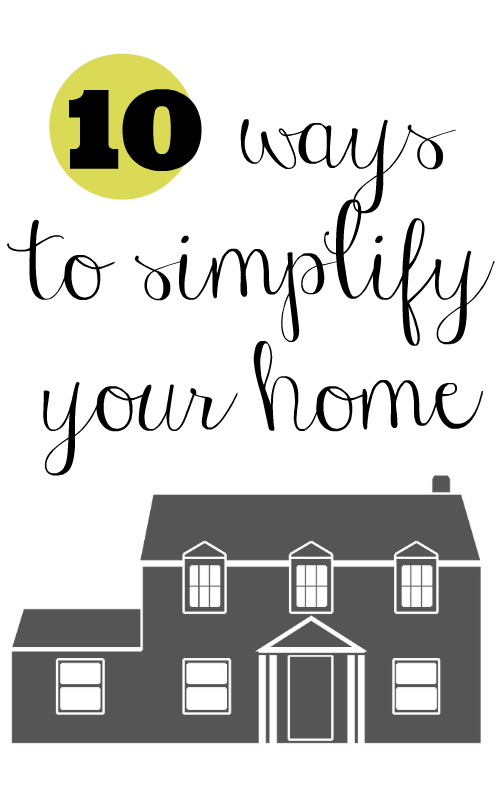 10 ways to simplify your home pinterest