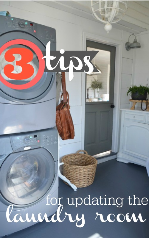 3 easy and practical tips for updating the laundry room.  DIY laundry room updates