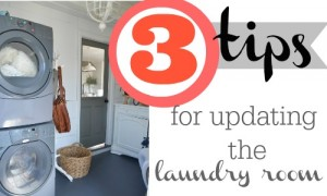 3 tips for updating the laundry room