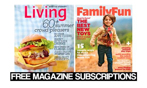 FamilyFun & Martha Stewart Living Magazines