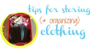 Great tips for how to store and organize clothes between seasons.