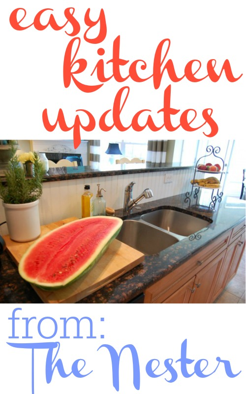Here are some quick and easy updates for your kitchen.  They even work great in rentals.