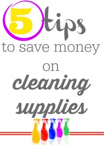 Save money on cleaning supplies for your spring cleaning with these 5 tips to save money on cleaning supplies.