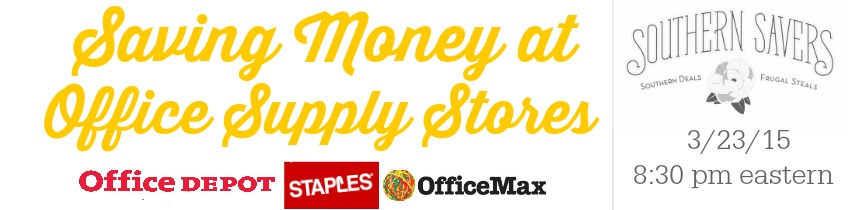 Saving money on office supply stores