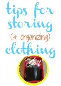 Tips for storing & organizing clothings