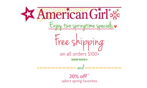 American girl coupon code