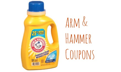 image relating to Arm and Hammer Printable Coupons titled Printable Arm and Hammer Coupon codes: $2.49 Laundry Detergent