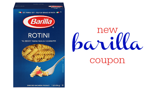 new barilla pasta coupon
