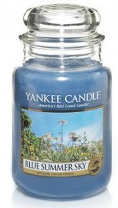 blue summer sky candle