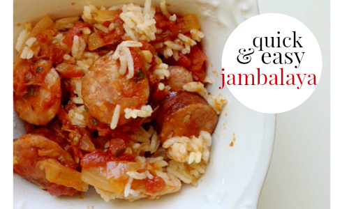 Here's a recipe for quick and easy jambalaya! You likely already have