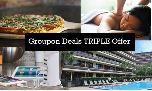 groupon deals triple offer