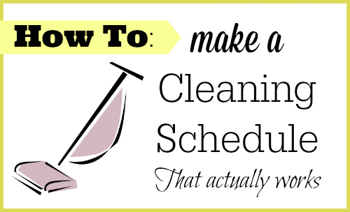 This is the easiest to follow cleaning schedule template I have found. She breaks it down to make it quick & easy.