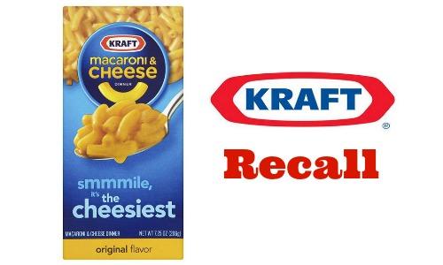 kraft macaroni & cheese recall