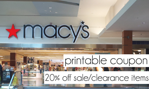 Macy 39 s printable coupons 20 off sale clearance items for Macy s jewelry clearance