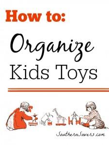 organize kids toys