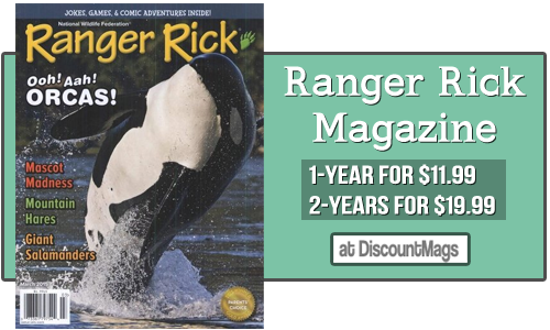 ranger rick magazine subscriptions