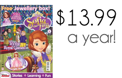 sofia the first magazine button