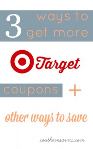 Here are 3 ways to get more Target coupons plus other ways to save!