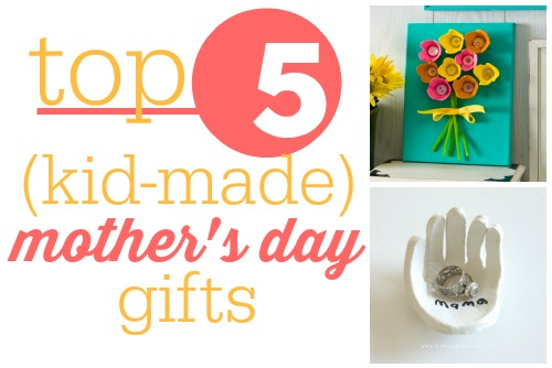 Here are some great kid-made Mother's Day gifts that are super easy and just require some parental supervisio.