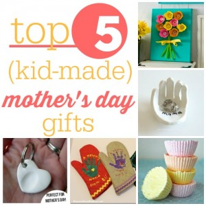 Here are some great kid-made Mother's Day gifts that are super easy and just require some parental supervision.