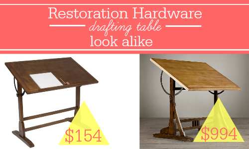 Antique Drafting Table Restoration Hardware