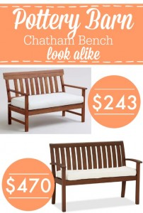 Pottery Barn Chatham Bench Look Alike - a frugal version of the real thing