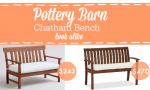 Pottery Barn Chatham Porch Bench Look Alike