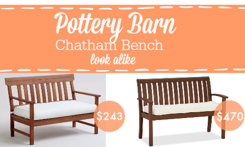 Pottery Barn Chatham Bench look alike for a fraction of the cost at World Market!
